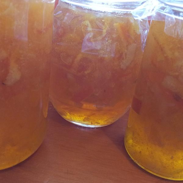 An excellent Marmalade made from  Ben Yen lemons, Tangellos and one Kaffir Lime.